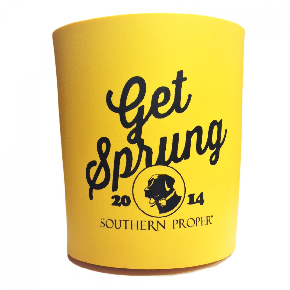 """Get Sprung"" Coozie - Yellow"